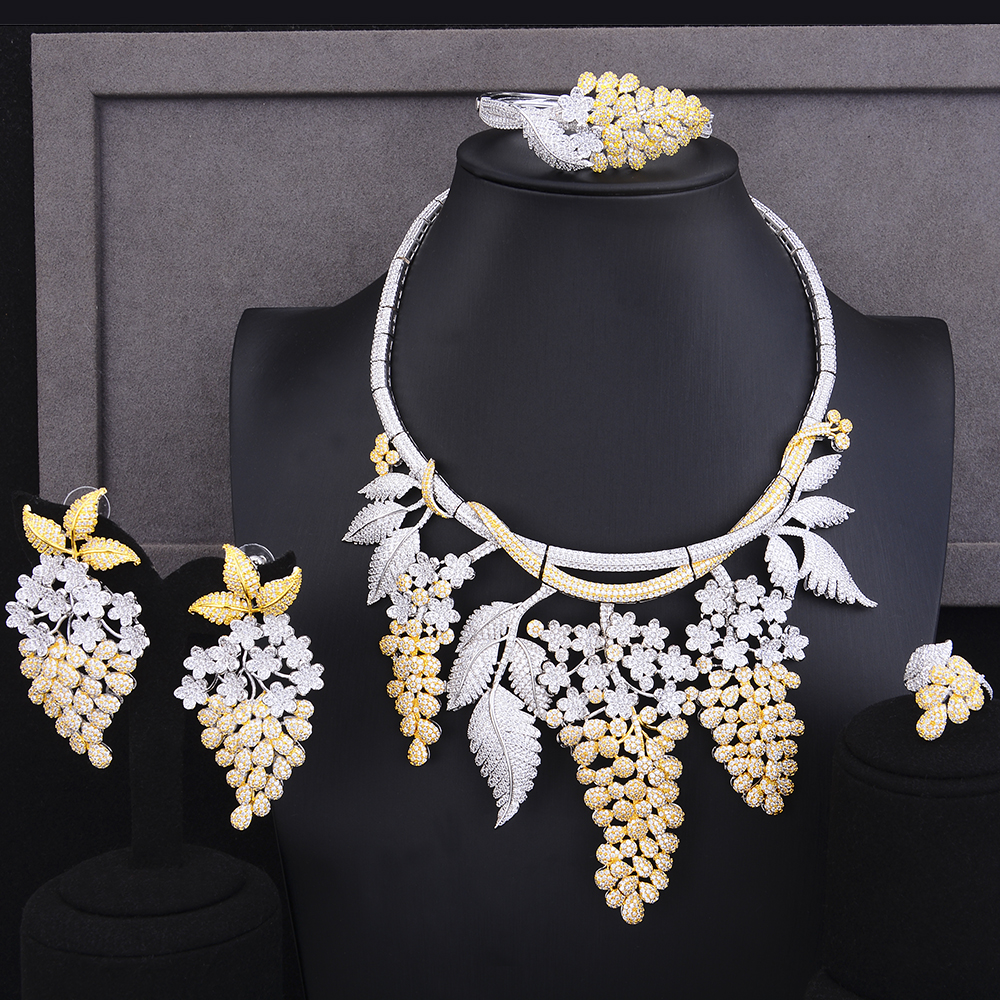 missvikki Brand Luxury Bridal Wedding Anniversary Flowers Pendant Necklace Bangle Earrings Ring Jewelry Set Ladies Lover Gift missvikki Brand Luxury Bridal Wedding Anniversary Flowers Pendant Necklace Bangle Earrings Ring Jewelry Set Ladies Lover Gift