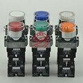 [ZOB] 22 мм Оригинальный оригинальный свет самоблокирующийся кнопочный переключатель XB2BW3 * B1C.A LED AC/DC24V 1-10 шт./лот