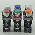[ZOB] 22mm original echte licht selbst verriegelung taste schalter XB2BW3 * B1C. EINE LED AC/DC24V 1 10 teile/los|led par|led cflled lumen -