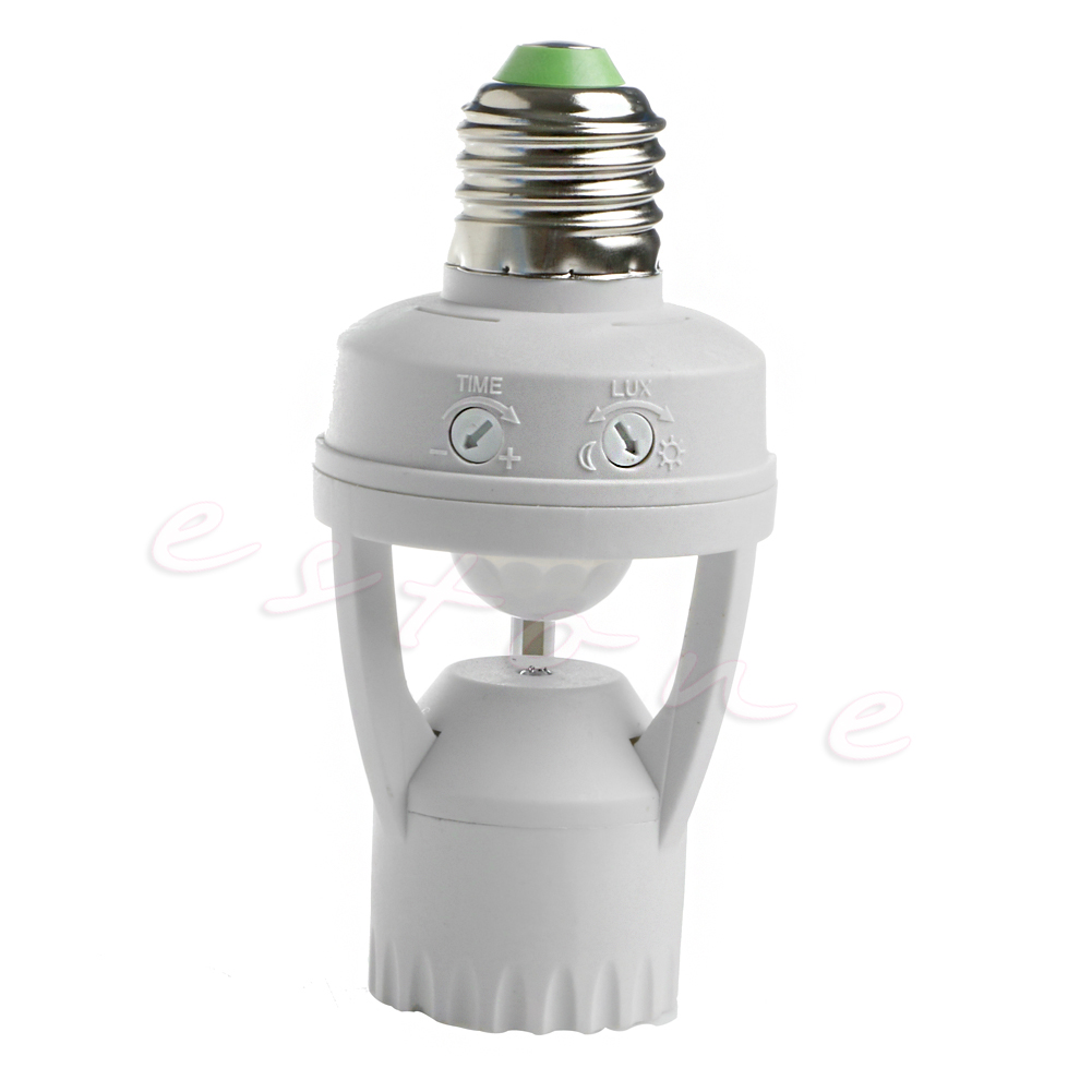 E27 LED Lamp Bulb Light Holder Switch Infrared PIR Motion Sensor AC 110V 220V litake led bulb lamp energy saving motion activated light bulb e27 9w pir infrared motion sensor light pir stairs night light