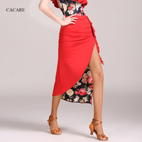 Lace Latin Dance Skirt Tango Skirt Dance Wear Exquisite Quality CHEAPEST D0979 Yellow, Red Colors Irregular Ruffled Hem