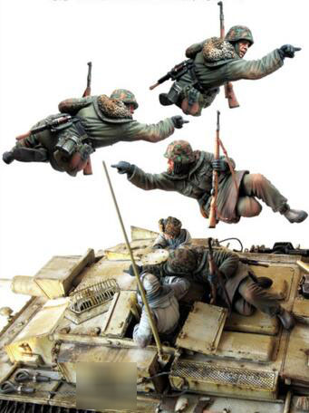 <font><b>1</b></font>/<font><b>35</b></font> <font><b>Resin</b></font> Figure <font><b>German</b></font> Soldier 1pc <font><b>Model</b></font> Kits image