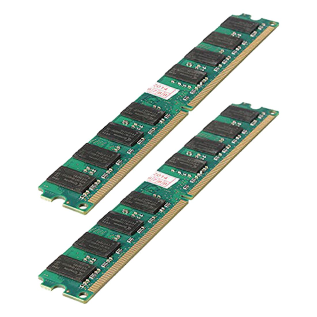 <font><b>4GB</b></font>(2X2 Gb)MEMORIA MEMORY <font><b>RAM</b></font> PC2 5300 667Mhz <font><b>DDR2</b></font> 240PINES FOR AMD PC HIGH DENSITY,green image