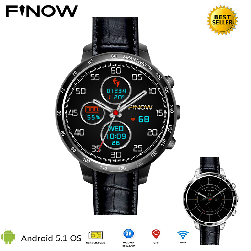 2018 New Finow Q7 plus smart watch Phone support Android 5.1 MTK6580 Quad Core 3