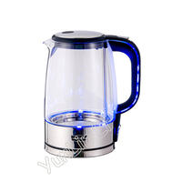 1.7L Electric Kettle Water Heater Household Automatic Power Off Boiler Germany Glass Anti dry LED Light Tea Pot