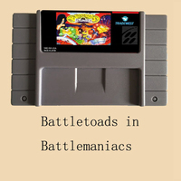 Battletoads In Battlemaniacs USA Version 16 Bit Big Gray Game Card For NTSC Game Player