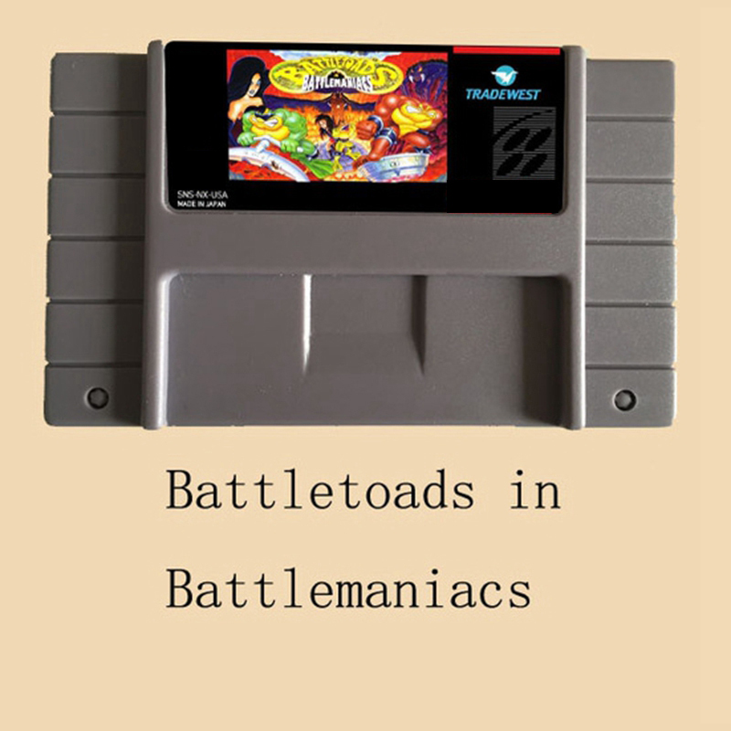 Battletoads in Battlemaniacs 16 bit Big Gray Game Card For NTSC/PAL Game Player