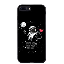 Astronaut Soft Silicone Phone Cover For iPhone