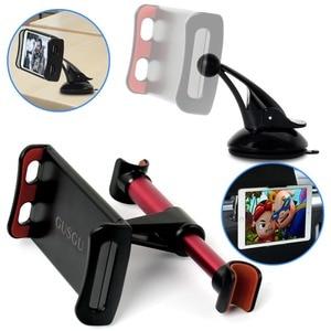 Image 1 - Auto Telefon Halter Kopfstütze Halterung 360 Grad Universal Zurück Sitz Stand Auto Handy Halter Für iPhone 6 7 8 plus X Tabletten