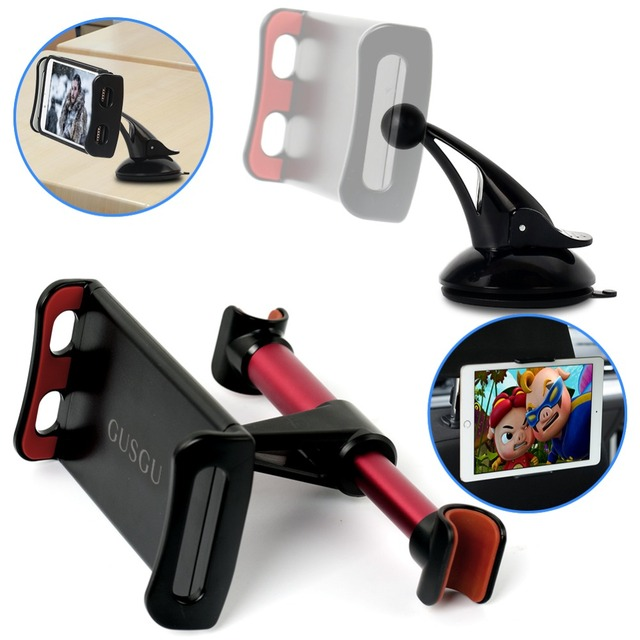 Car Phone Holder Headrest Bracket 360 Degree Universal Back Seat Stand Car Mobile Phone Holder For iPhone 6 7 8 Plus X Tablets