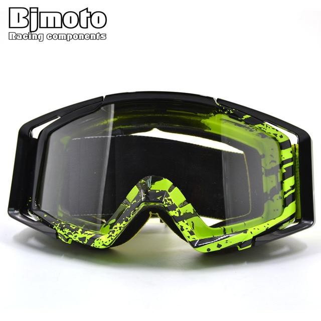 245ded46fdd11 BJMOTO googles Motocross Goggles Motocicleta ATV Óculos Limpar Lens Ski  Googles Capacete Off-road CRG