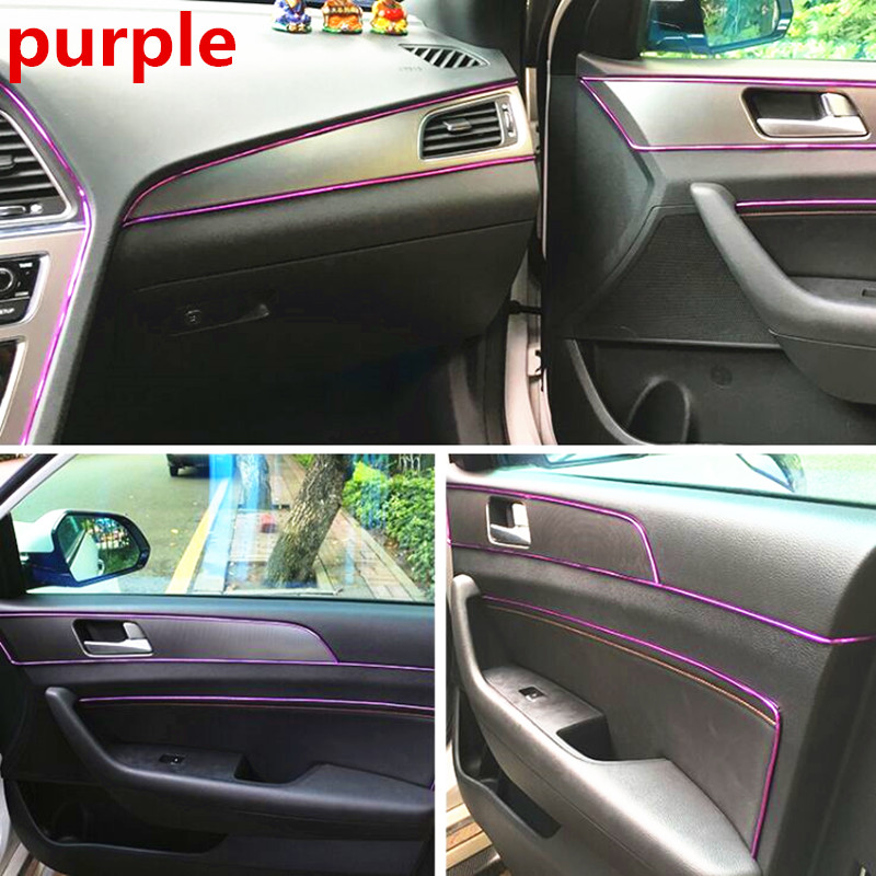 Image 5 - 5M Car Interior Decoration Moulding For Ford focus MK2 MK3 MK4 Kuga Fiesta Mondeo Ecosport For Chevrolet Cruze Malibu Aveo-in Car Stickers from Automobiles & Motorcycles