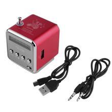 Супер бас динамик MP3/4 стерео музыкальный плеер карамельный цвет FM радио портативный мини SD TF карта Micro USB IB