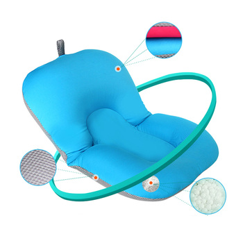 Non-Slip Baby Bath Mat Foldable Newborn Baby Security Bathing Seat bath tub/bed/pad/chair/shelf baby shower nets^ 3