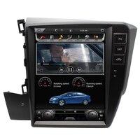 10,4 Android 6,0 4 ядра DVD плеер автомобиля для Honda Civic 2012 2013 2014 2015 gps навигации стерео радио 4G/wi fi Бесплатная географические карты