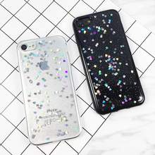 Luxury Bling Glitter Case for iPhone 7 Case For iPhone 8 7 6 6S Plus 5 5S 5SE X Back Cover Love Heart Soft Silicone Phone Cases стоимость