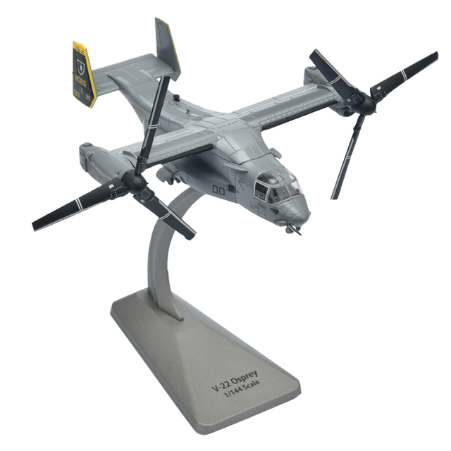 1:144 V22 Osprey Tilting Rotary Wing Helicopter Model Toy Alloy Finished Military Gift Ornaments Toys For Children Gifts