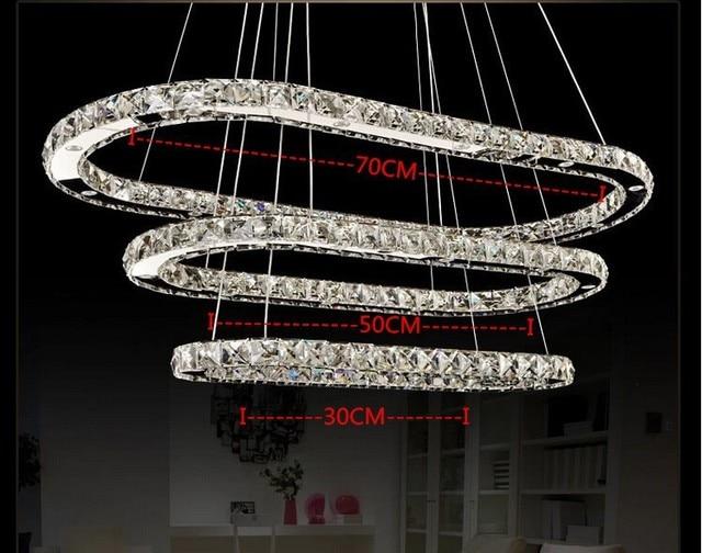 Moderno anello k9 lampadario di cristallo lampade a led living room