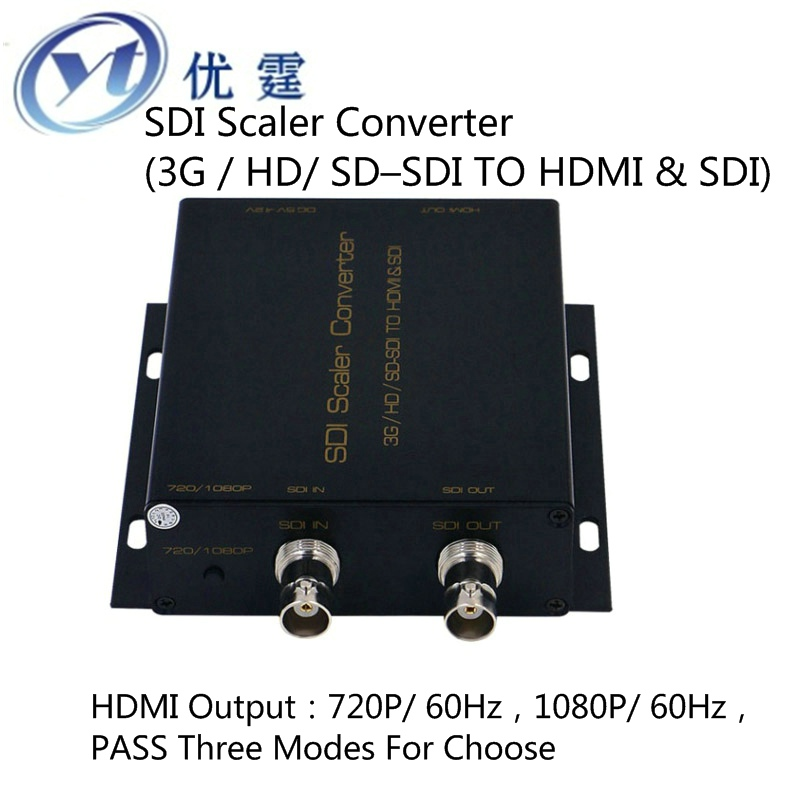 sdi to hdmi converter 720p to 1080p60hz Scaler Conver (3G HD SD SDI TO HDMI and SDI) EDID hdmi to sdi converter scaler 1x2 2 port 3g hd sd hdmi to sdi conver 720p to 1080p for monitor camera display free shipping