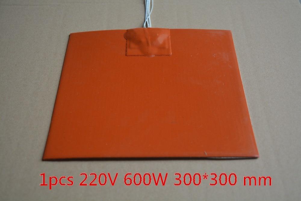 Almohadilla calefactora de silicona 300mm x 300mm para impresora 3d cama de calor 1 unids