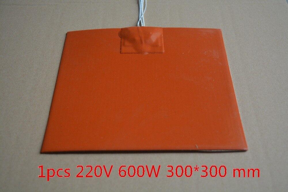 Calentador de silicona calentador 300mm x 300mm para 3d impresora cama calor 1 piezas