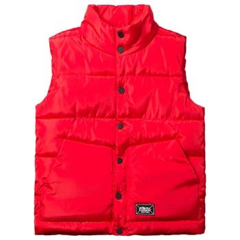 цена на Brieuces 2018 new Men women down cotton vest autumn and winter men vest loose stand collar lovers winter vest men plus size 5XL