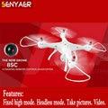 A mais recente lista x8sc syma 2.4g 4ch 6 eixo rc quadcopter Conjunto Barômetro Altura Modo RTF Zangão Com Câmera HD com LED luz