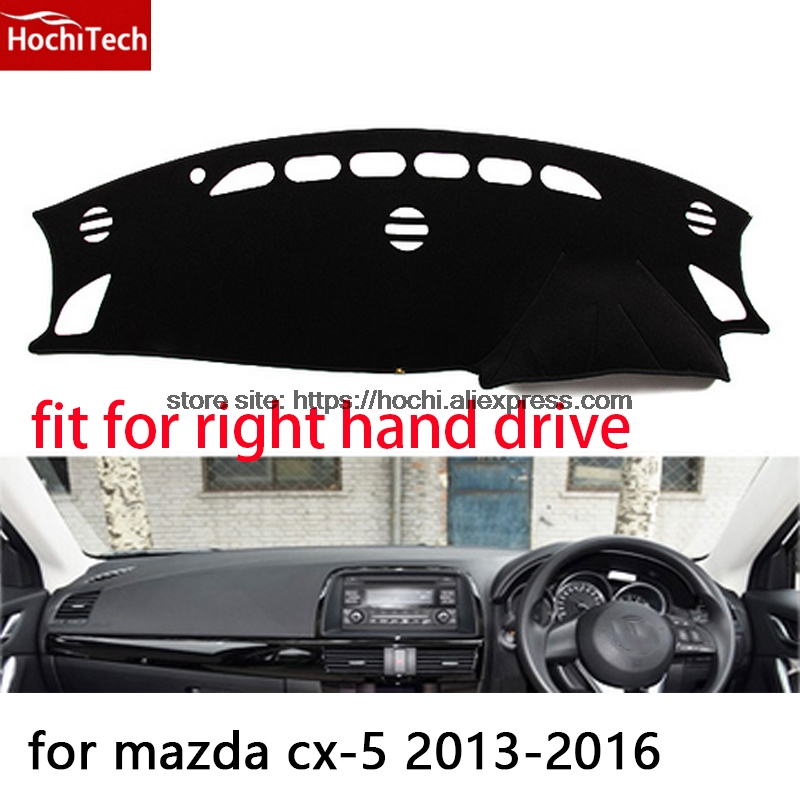 For mazda cx-5 cx5 13-16 right hand drive dashboard mat Protective pad black car-styling Interior Refit sticker Mat products for mazda cx 5 cx5 2nd gen 2017 2018 interior custom car styling waterproof full set trunk cargo liner mats tray protector