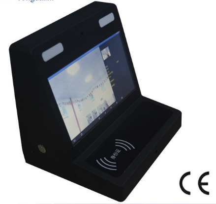 Visitors Check In/out Time Management System Face And ID Recognition Function Pc Desktop With 10.1 Inch Touch Monitor