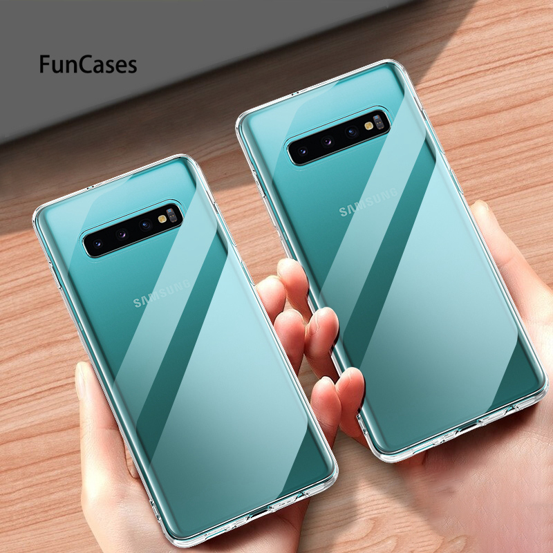 Case For Samsung Galaxy S10 lite S9 S8 PLUS S7 Note 9 8 J4 J6 J8 A6 A7 A8 A9 2018 A6S J2 J5 J7 Prime Ultra Thin Clear TPU Cover image