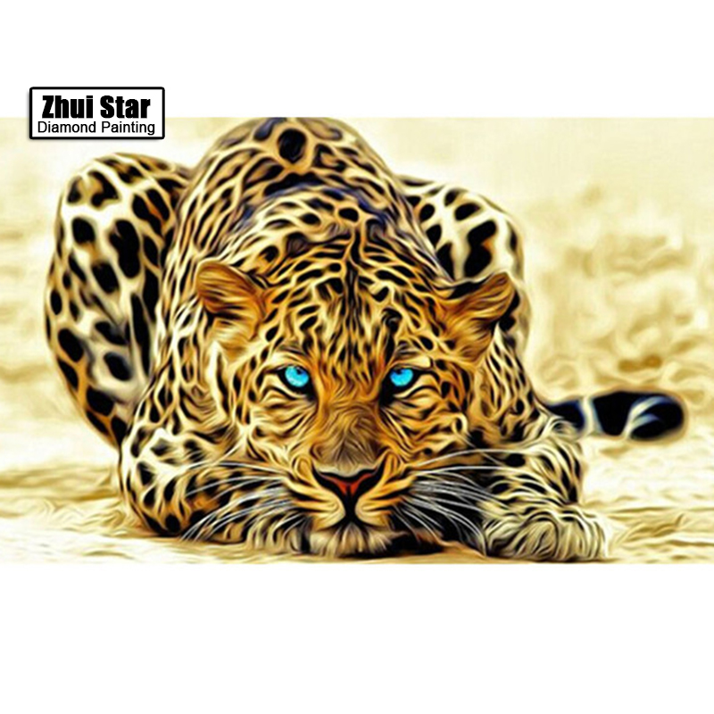 5D diy diamond painting animal tiger pictures of rhinestones square cross stitch needlework home decorative relative gifts ZS