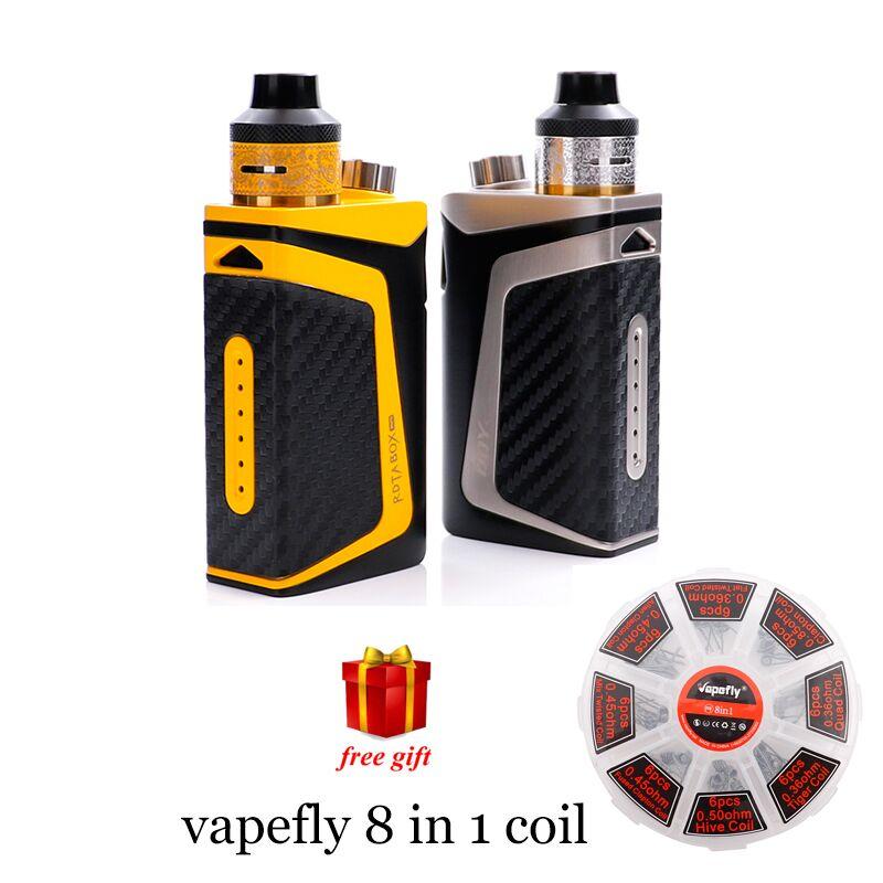 Free gift! IJOY RDTA Box Mini kit 100W Starter vape built-in li-po 2600mAh 6ml e-juice tank IB M-C2 coil box mod vaporizer original hotcig train vape rdta
