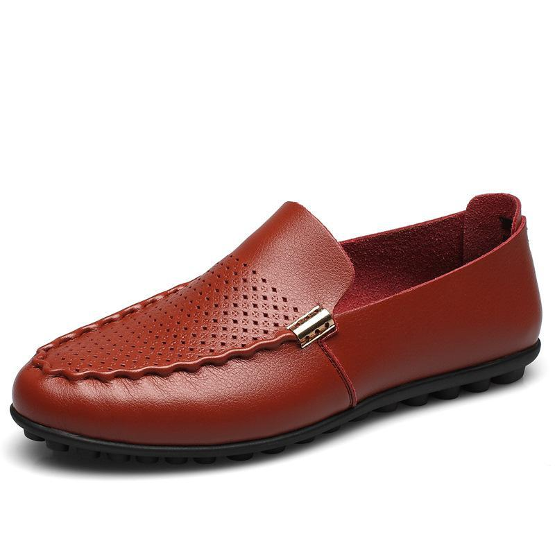 Breathable Casual Flats Leather Driving Chaussure Homme Moccasins Men Peas Loafers Slip on Cut-outs Holes Zapatos Hombre Soft 2016 new fashion comfortable casual walking loafers flats chaussure homme zapatillas hombre sales canvas tenis slip on men shoes