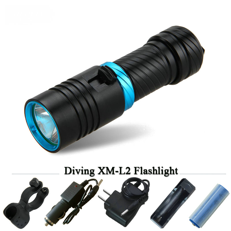 powerful led diving flashlight cree xm l2 Underwater lamp scuba lanterna waterproof linterna zaklamp26650 or 18650electric torch powerful underwater flashlight led scuba diving lanterna xml l2 waterproof led torch dive light 18650 26650 rechargeable battery