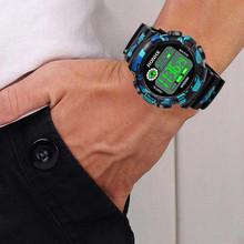 Fashion Unique Design Sport Style  Luxury Men Analog Digital Military Army Sport LED Waterproof Wrist Watch Female's Watvhe