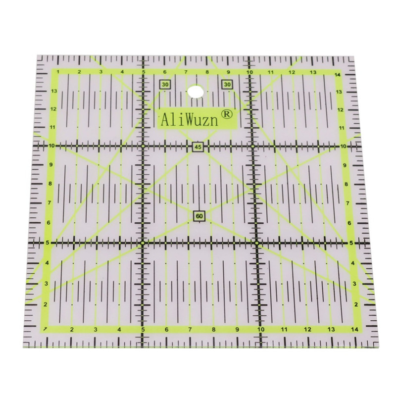 1 Pcs High-grade Acrylic Material Multi-function Green Square Ruler Sewing Patchwork Ruler Hand Must-have Student Stationery