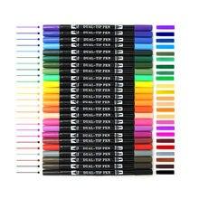 Dual cepillo plumas 24 caligrafía de Color de la pluma con mano letras guía bien forro y Punta de cepillo marcadores Bolígrafos de colores, arte