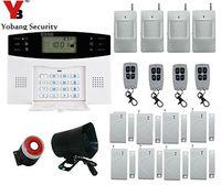 Yobang безопасности GSM сигнализация Системы с смс сигнал тревоги/Siren встроенный домофон Колонки движения PIR Сенсор двери Gap сигнализации наборы