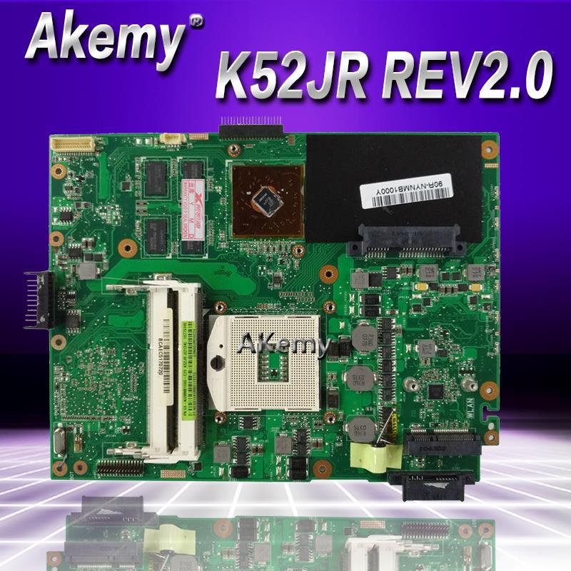 Akemy K52JB Ordinateur Portable carte mère pour asus K52JB K52JE K52JR K52JC K52JT K52J A52J X52J Test carte mère d'origine K52JR REV2.0