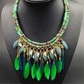Ethnique collier collares bohemios 2017 plumas de la vendimia declaración collar boho chic indio maxi de las mujeres gargantillas collar