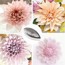 TTLIFE 6pcs/set Dahlia Petal Set Stainless Steel Candy Biscuit Cookie Cutters Fondant Sugarcraft Mold Cake Decorating Tools