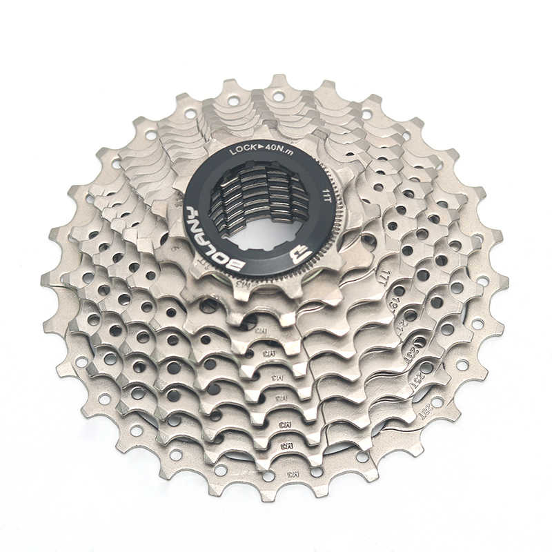 a40ff53ebfc ... Bolany Bicycle Freewheel 9 Speed Road Cassette 11-28T Bike Flywheel  Compatible For Shimano Sora ...