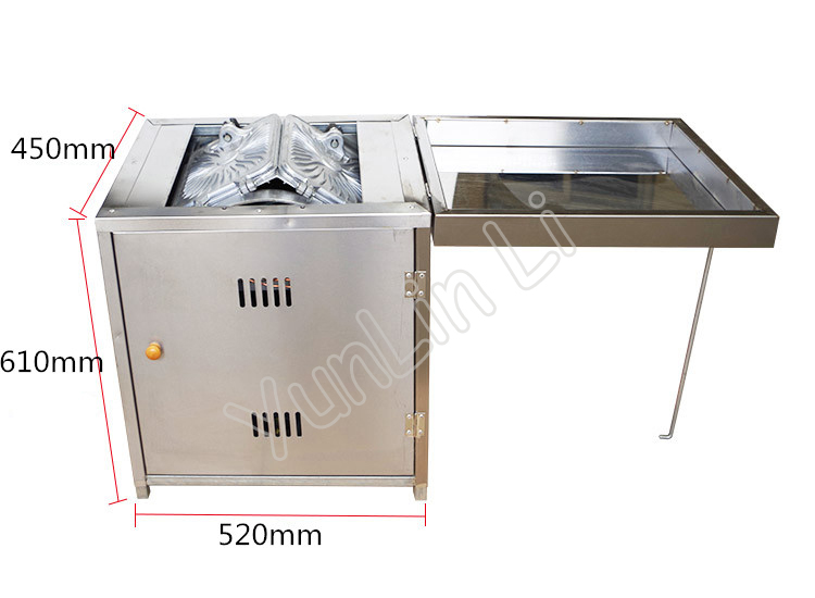 Gas Egg Roll Machine Commercial Baker Stainless Steel Toasted Crispy Egg Roller Non Stick Pan Roll Making Machine 60 - 4