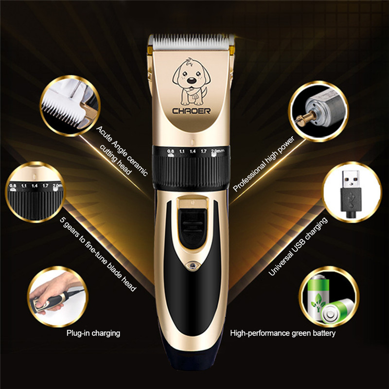 Rechargeable Low-noise Cat Dog Hair Trimmer Electrical Pet Hair Clipper Remover Cutter Grooming Pets Haircut Machine 1