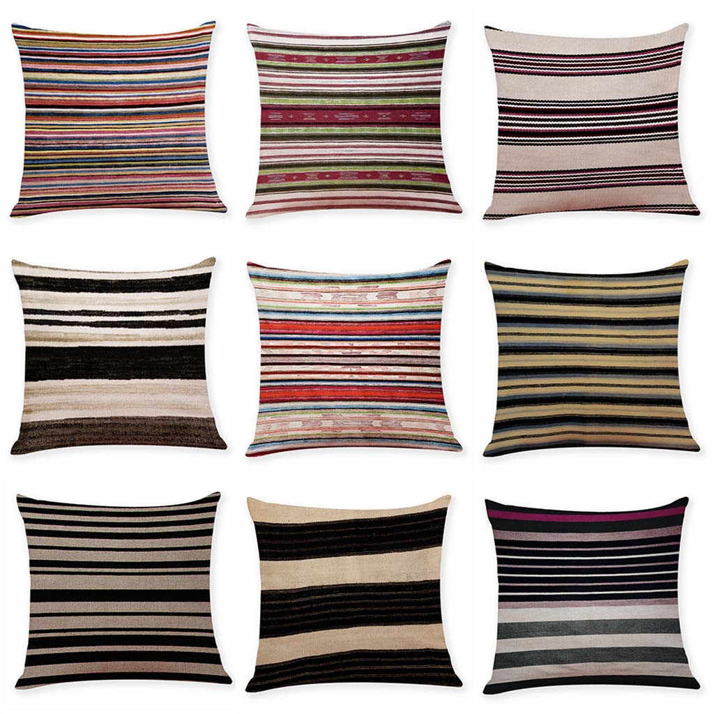 Housse De Coussin Cotton Linen Square Home Decorative Throw Pillow Multicolor Case  Waist Cushion Cover Kussenhoes 19Jan15 P40