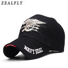 2eebf869c2e16 Navy Seals Cap Tactical Army Cap Letter Embroidery Baseball Hat US NAVY  Snapback Hat For Men
