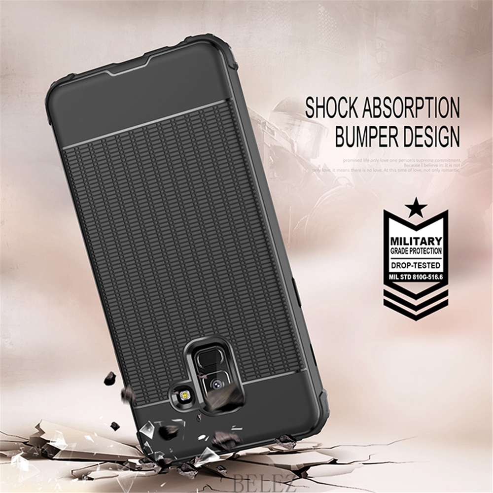 Luxury Carbon Fiber Cover for Samsung Galaxy A8 A6 A750 J4 J6 Plus A9 A6s 2018 Soft Case S7 edge S8 S9 Note 8 9 J2 J3 J5 J7 2017 2