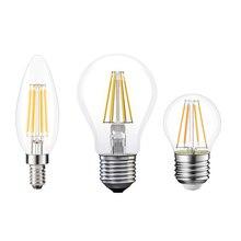 2c0f412d5ca Bombilla LED E27 lámpara LED E14 LED 220 V E27 bombilla B22 230 V de  filamento de Edison lámpara E14 Vintage vela lámpara de ara.