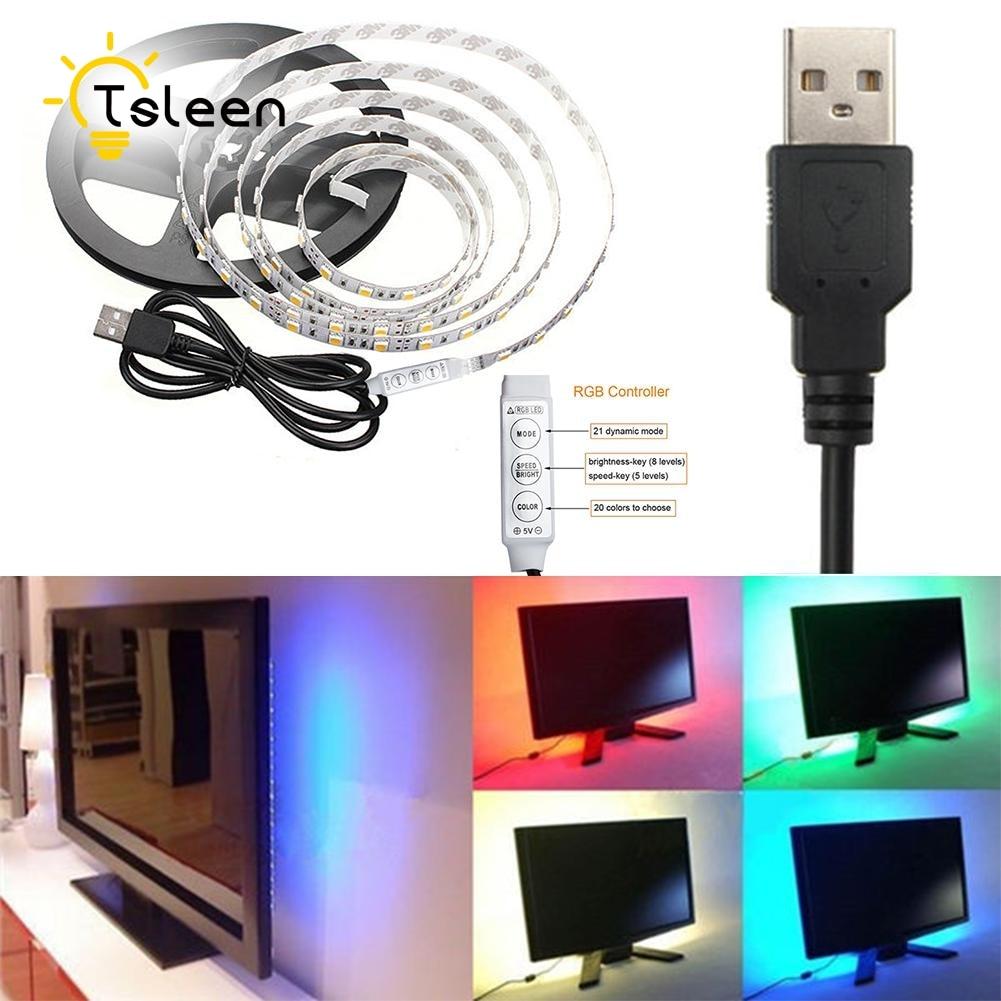 Cheap USB Power Suppy RGB ledstrip lights SMD5050 Flexible led Strip bar Light Strips LED Tape led strip 0.5 1 2M