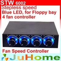 4 CPU Fan Speed Control Floppy Position Blue LED Light 4 Channel CPU Fan Speed Controller